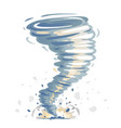tornado isolated vector image vector image
