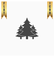 Tree Christmas fir tree vector image vector image