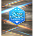 Typographic label Merry Christmas and Happy New vector image