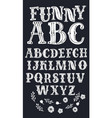 vintage font for labels and posters vector image
