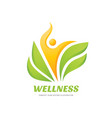 wellness - business logo template concept vector image vector image