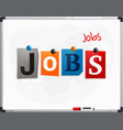 word jobs made from newspaper letters vector image