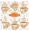 cups collection vector image