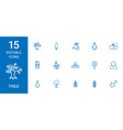 15 tree icons vector image vector image