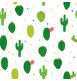abstract seamless pattern background with cactus vector image vector image