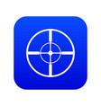 aim icon digital blue vector image vector image