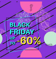 black friday sale banner for online shopping with vector image vector image