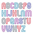bold capital alphabet letters collection made vector image