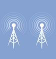 Broadcasting tower icon - antenna silhouette vector image vector image