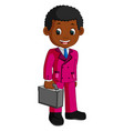 business man characters holding briefcase vector image