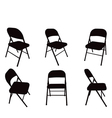 chair silhouette vector image vector image