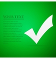 Check mark flat icon on green background Adobe vector image vector image