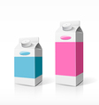 Colorful Milk box packaging vector image