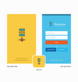 company networks setting splash screen and login vector image vector image