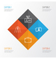 corporate icons set collection of calling card vector image vector image