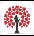 creative valentines tree design or share your love vector image vector image
