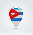 Cuban icon point for map vector image vector image