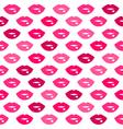 Cute fun pink lips kiss seamless pattern vector image