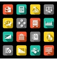 Finance icons set flat vector image vector image