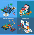 financial technology isometric design concept vector image vector image