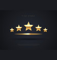 five golden stars top quality concept rating vector image