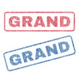 grand textile stamps vector image vector image