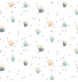 grass floral seamless pattern with tiny plant vector image