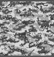 gray pixel military camouflage seamless pattern vector image