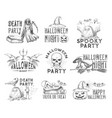 halloween holiday night party sketch icon vector image vector image