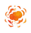 hand drawn of explosion effect vector image vector image
