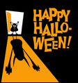 happy halloween zombie with shadow vector image vector image