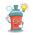 have an idea aerosol spray can character cartoon vector image vector image