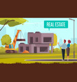 home construction mortgage composition vector image
