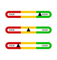 indicator bar good and poor for business isolated vector image vector image