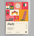 italy travel poster layout vector image