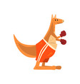 kangaroo boxer with boxing gloves funny sportive vector image