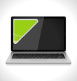 laptop with sticker vector image vector image