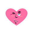 love winking emoji heart happy emotion isolated vector image