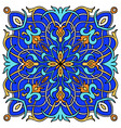mandala colored majolica great design for any vector image