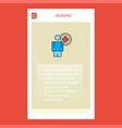 medical doctor mobile vertical banner design vector image vector image