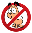No dog sign vector image