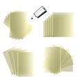 Notepad Set vector image