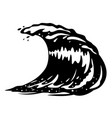 ocean wave black and white vector image vector image