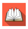 Opened book icon in flat style isolated on white