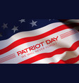 patriot day background american flag vector image vector image