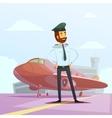 Pilot Cartoon vector image vector image