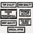 Premium quality rubber stamps set vector image vector image