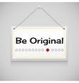 Realistic hanging advertisement canvas vector image vector image