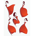red dresses vector image vector image