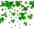 saint patricks day border with green four vector image vector image